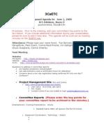3CsETC Minutes 2009.06.01