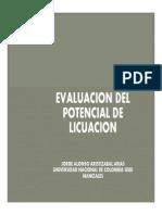 6.0 Potencial de Licuacion