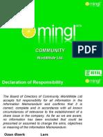 Mingl Community - presentation & business plan