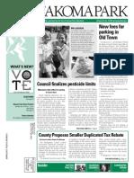Takoma Park Newsletter - October 2013