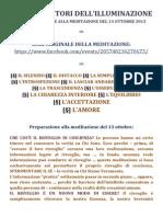 I CATALIZZATORI DELL'ILLUMINAZIONE | MEDITAZIONE ATTIVA 13.10.13