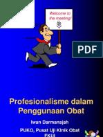 Profesionalisme Dalam Penggunaan Obat