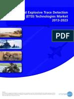 World Explosive Trace Detection (ETD) Technologies Market 2013-2023