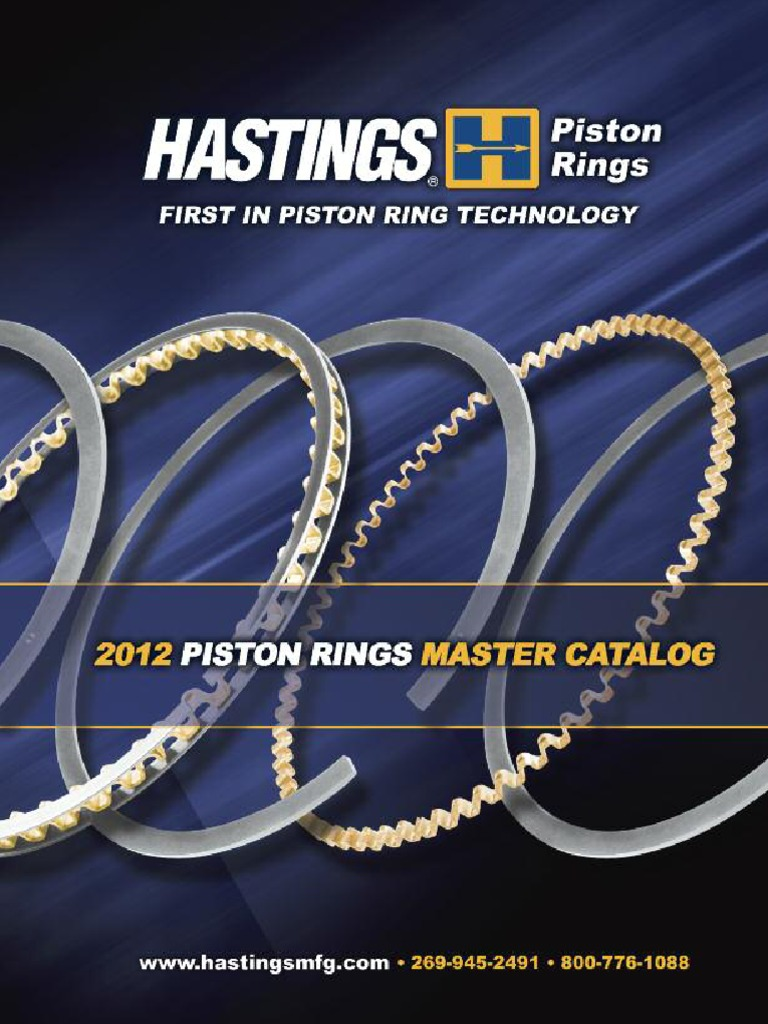 Hastings 2C5906S Single Cylinder Piston Ring Set