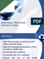 Principles of Autonomy & Justice