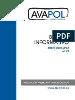 Boletín nº 13 (Enero-Abril 2013)