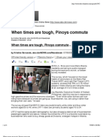 When Times Are Tough, Pinoys Commute (ABS-CBN News Online), 08 July 2009
