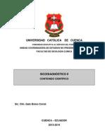CONTENIDO CIENTIFICO SICODIAGNOSTICO