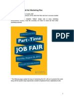 2013 part-time job fair marketing plan