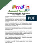 02-10-13 Empresas loínas participaron de desayuno con comisión Calamatón 2013-1