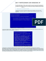 Como Formatear y Particionar Con Windows Xp