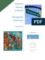Richmond PBID--MDP-2012-0514-FINAL signed