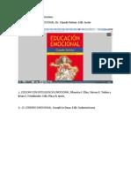 LIBROS DE EDUCACIÓN EMOCIONAL