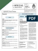 Boletin Oficial Argentina Resoluciones