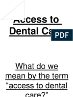 Access to Dental Care Ppt