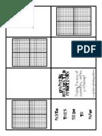 Graphing Quadratic Functions Mini Book