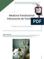20. Indicación de Transfusión 2013