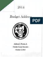 Oneida County Budget Message 10 2