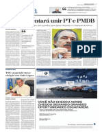 Ministro tentará unir PT e PMDB
