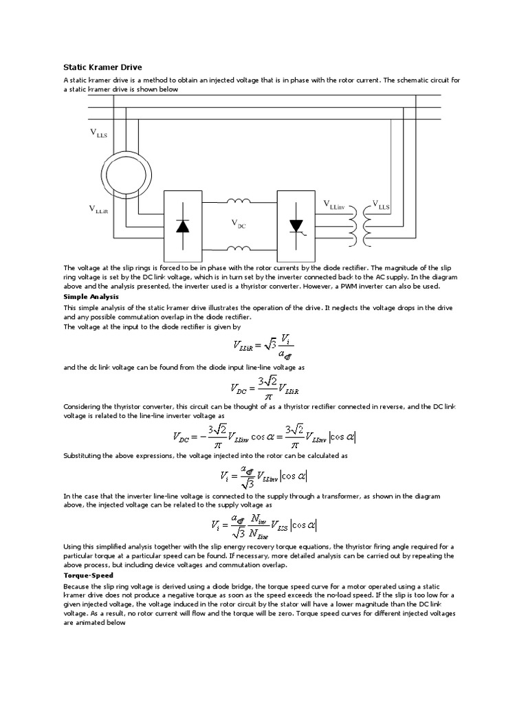 Static Kramer Drive Diagram The Complete Wiring Of Circuit Is Shown Below 1545344217v1
