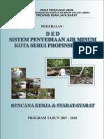 DED Sistem Penyediaan Air Minum Kota Serui 2006
