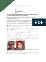 Mia Farrow Spoke to Vanity Fair Magazine About Paternity Rumours