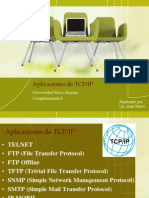 Aplicaciones de TCP