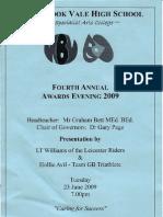Woodbrook Vale High School Awards Programme 2009