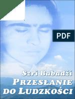 Szri Babadżi. Przesłanie Do Ludzkości