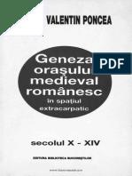 Geneza oraşului medieval românesc extra carpatic
