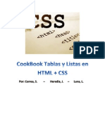 Cookbook Tablas y Listas