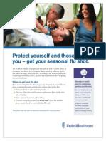 UHC - Flu Shot Flyer 2013 Season