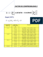 Calculo Del Factor de Compresibilidad z
