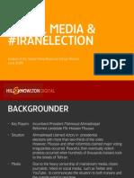 Iranian Election - Social Media Analysis (Presentation)