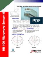 HB100 Microwave Sensor Module Datasheet