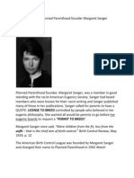 Eugenics Links to Planned Parenthood Founder Margaret Sanger