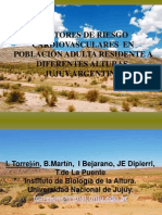 Fact. de Riesgo Cardiovasculres Poblacion Adulta Residentes a Diferentes Alturas - Jujuy Argentina