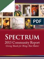 Spectrum's 2013 Community Report