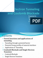 Single Electron Tunneling and Coulomb Blockade.pptx