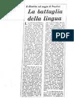 Gian Carlo Ferretti, La Battaglia Della Lingua, 1965