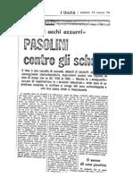 Carlo Salinari, Pasolini Contro Gli Schemi, 1965