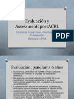 Evaluación y Assessment post ACRL