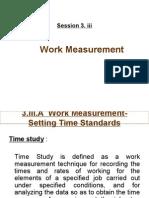 3.III Work Measurement