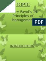 Henry Fayol Principles