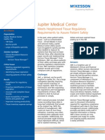Jupiter Medical Center; Meets Heightened Tissue Regulatory Requirements to Assure Patient Safety