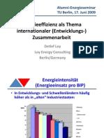 Energieeffizienz als Thema internationaler (Entwicklungs-)zusammenarbeit