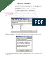 Programa Descriptiva