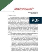 Castillo Barranco, Juan Carlos - Las Presas Romanas En Espana-Propuesta De Inventario.pdf