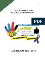 Proyecto Educativo Integral Comunitario 2012 - 2013