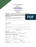 Health Assessment Form(Non SDAs)